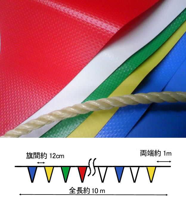 ターポリン素材の三角旗