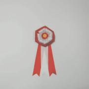 ボタン1号 赤