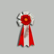 旭光3号 赤 【リボン徽章】